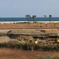 写真: 工事続く仙台沿岸部