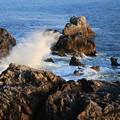写真: 波飛沫の音