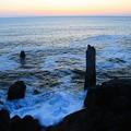 折石の早朝の風光