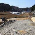写真: 復興工事続く歌津町
