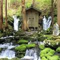 写真: 清水流れる胴腹滝