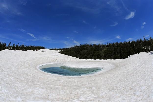 写真: 鏡沼の神秘的大自然