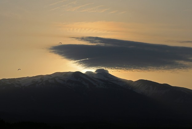 鳥海山朝の光景