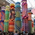 写真: 豪華な笹飾り