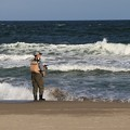 写真: 釣り人