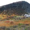 写真: 栗駒山目指す登山者