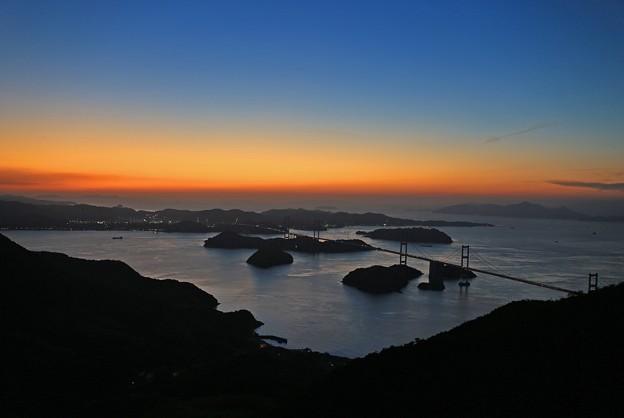 Photos: 夕暮れの瀬戸内海