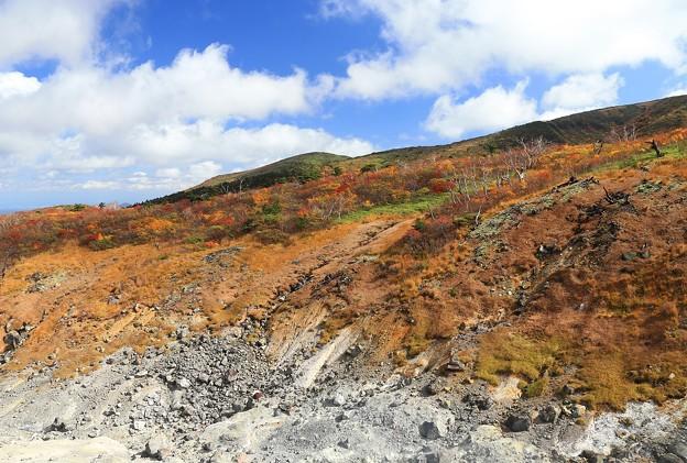 Photos: 荒々しさと紅葉の山