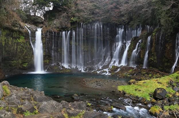 富士山麓の白糸の滝