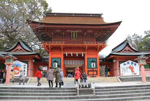富士山本宮の鉾立石