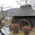 写真: 忍野八海の水車小屋