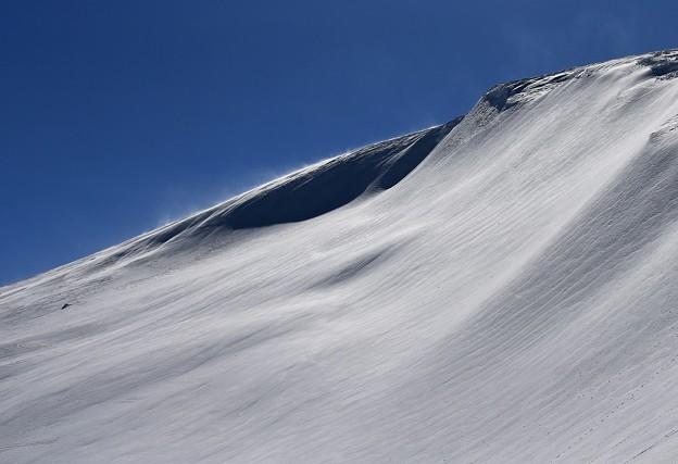 写真: 蔵王の雪肌