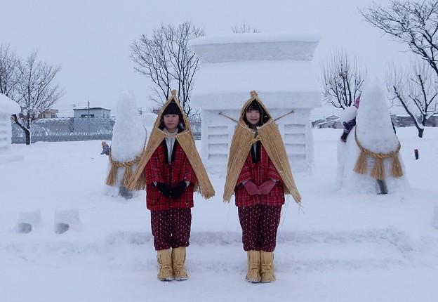 Photos: 雪国の娘さん