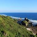写真: 紺碧海の東平安名崎
