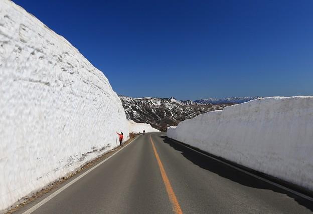 Photos: 蔵王の雪壁道路