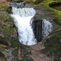 穴に入る滝