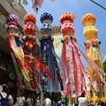 大規模な笹飾り
