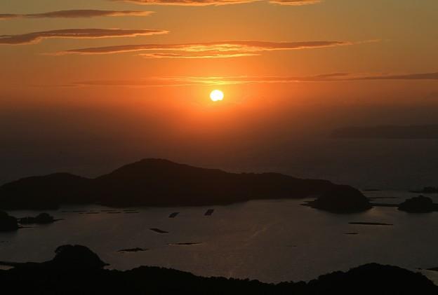 夕陽の九十九島
