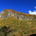 彩る岩壁の磐司岩