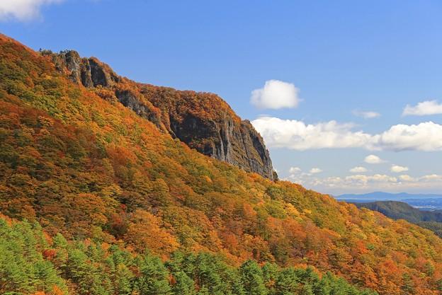 紅葉盛りの岩山
