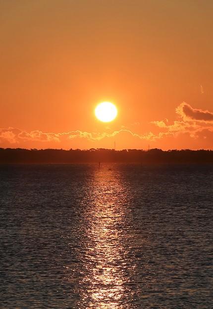 朝陽輝く松島湾