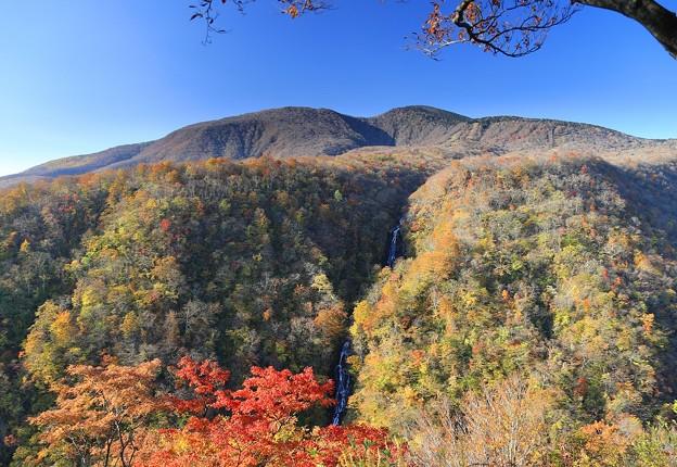 烏帽子岳の三階滝