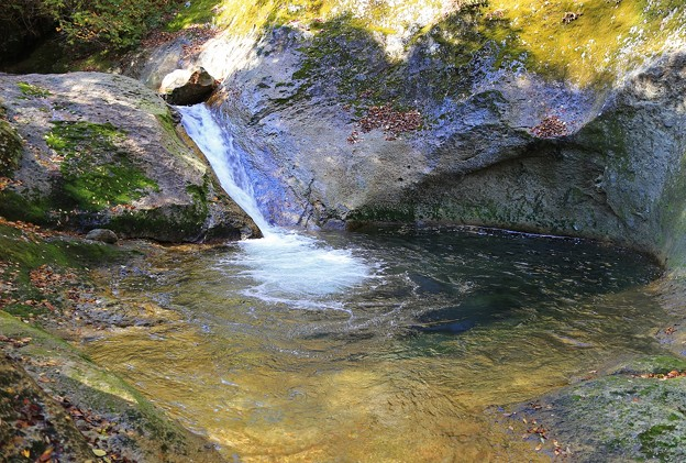 二口峡谷の流れ