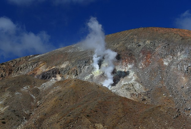 活火山の噴煙