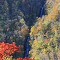 紅葉美の三階滝