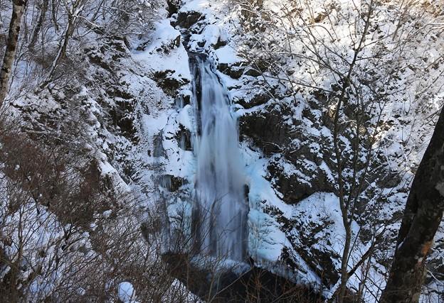 厳冬の秋保大滝