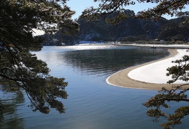 松島の砂浜