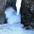 Photos: 神割崎の荒波