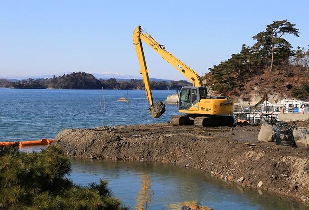 Photos: 船着き場の復興工事