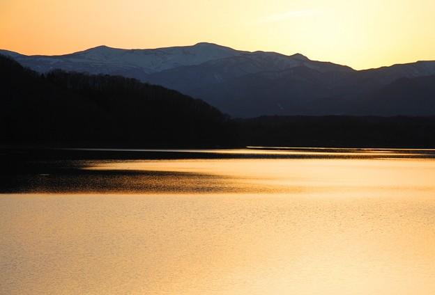 釜房湖夕暮れ
