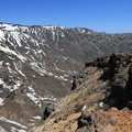 荒々しい火山の山