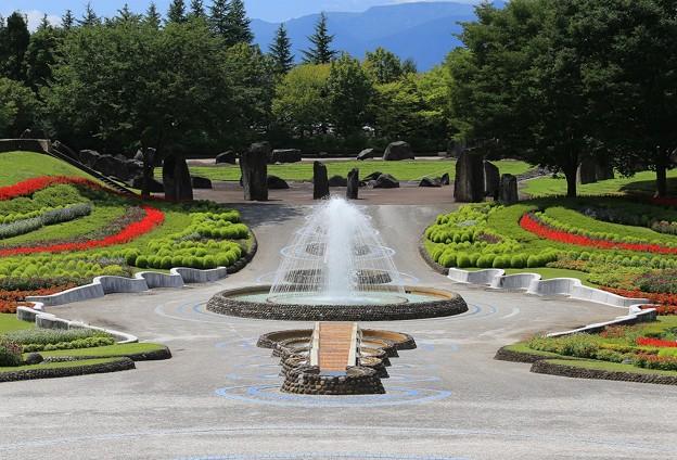 噴水の美しい公園