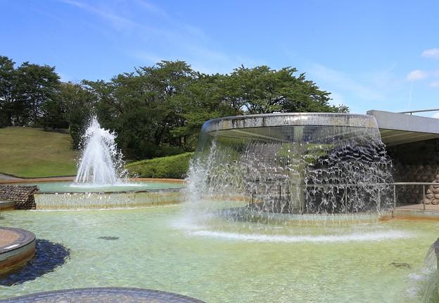 真夏の噴水