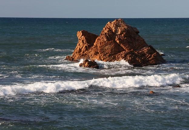 笹川流れの岩