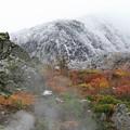 Photos: 紅葉と初雪の風光