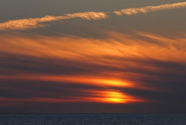 夕暮れの日本海