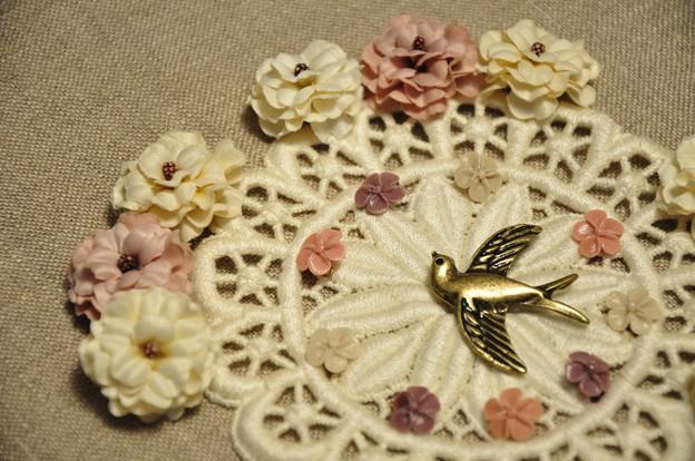 花と小鳥のチャーム.:*