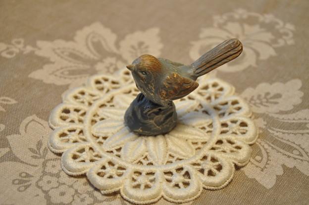 小鳥の置物..★.:*