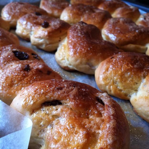 ハート型成形パン