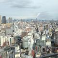 写真: 通天閣展望台から北北西 日本橋・難波方面