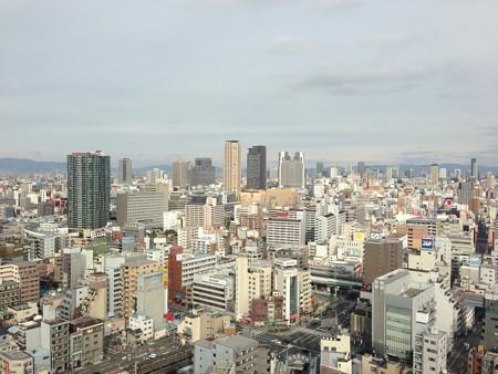 通天閣展望台から日本橋・難波方面