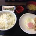 写真: なか卯 から揚げ目玉焼き朝食