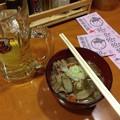 写真: 秀吉大塚店 ハイボール+もつ煮