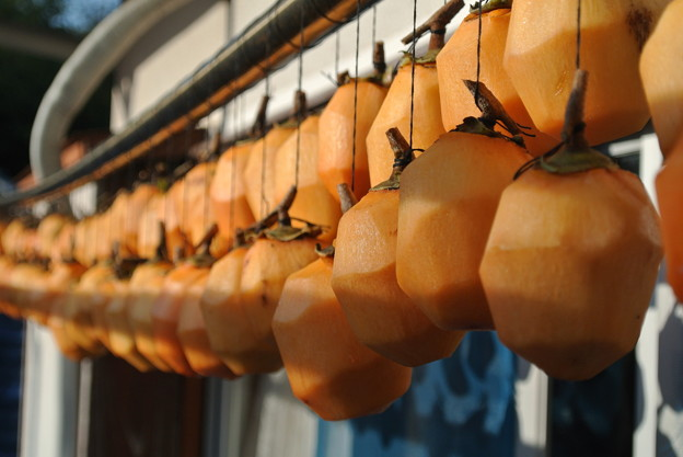 Photos: 柿を干しました