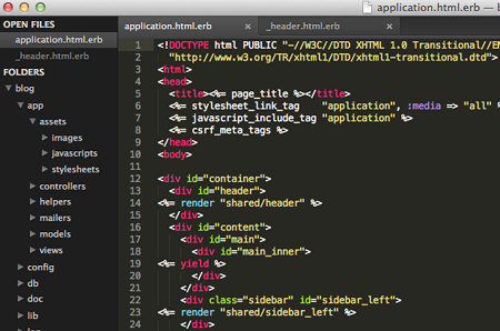 Sublime Text 2 - Sidebar