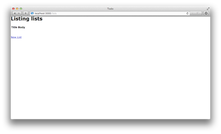 ToDoアプリ 初期画面